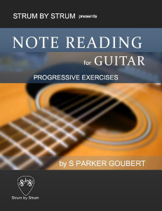 Note Reading for Guitar: Progressive Exercises Book Cover